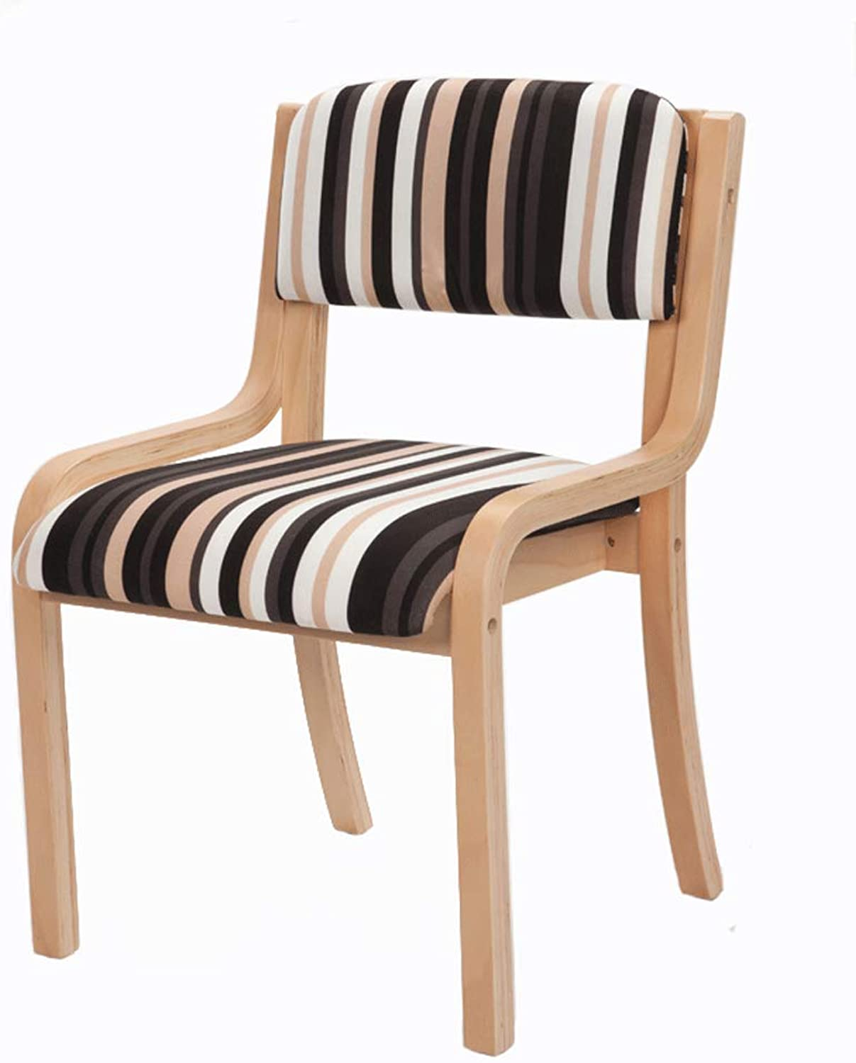 CQOZ Simple Solid Wood Dining Chair Study Single dinette Modern armrests Fashion Backrest Soft Case Wooden Chair Folding Chair (color    7)