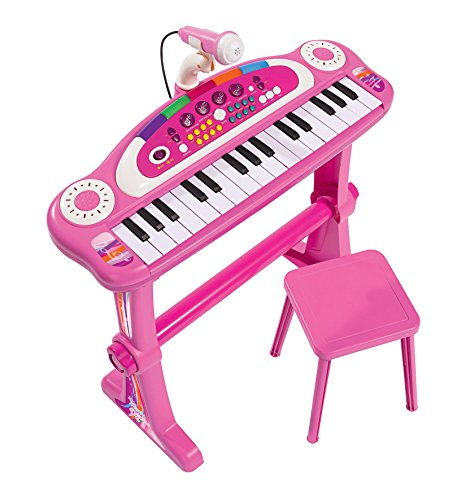 Simba 106830690 - My Music World Standkeyboard / 31 Tasten / mit Licht und Sound / 55cm / Pink