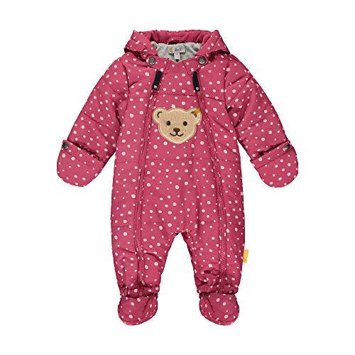 Steiff Baby-Unisex mit süßer Teddybärapplikation Schneeanzug, Malaga, 080