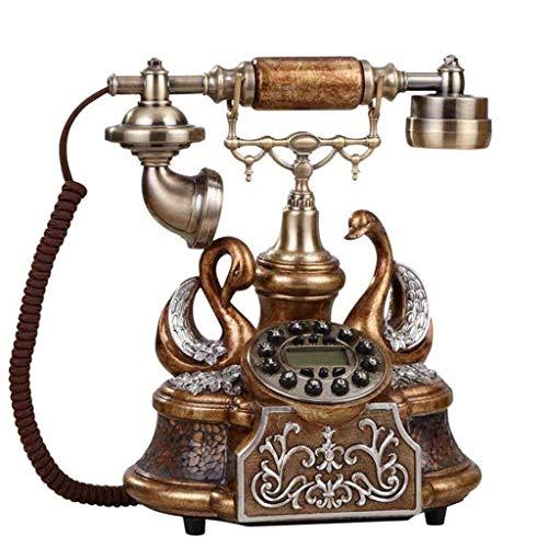 LDDZB Teléfono retro, línea fija para el hogar/estilo europeo, cuerda de 25 x 18 x 28 cm (color: #1) (color: # 2) (color: # 1)