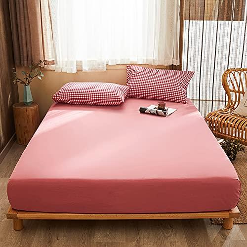 BOLO Sábana bajera de algodón de color sólido para cama de cuatro esquinas con banda elástica para colchón de algodón de calidad, suave y acogedor, 48 x 74 cm, 2 unidades