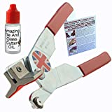 Glass Cutters Tools for Windows Cutting Thick Glass Mirror Glass Tile and Mosaic Glass, Mirror Cutter Tool is Made in UK Comes with Bottle Glass Cutter Oil Cut Stained Glass Sheets 1mm - 21mm Thick