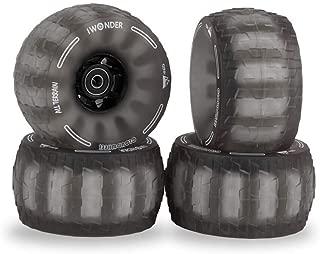 IWONDER Cloud Wheel Electric Skateboard Wheels All Terrain Off Road 120mm 78A Translucent Urethane Patented Damping Foam Core Longboard Wheels