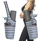 Ewedoos Yoga Taschen aus Baumwoll-Canvas für meisten yogamatte & Yoga-Zubehör (Streifen)