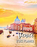 Venice 2021 Planner: Weekly & Monthly Agenda | 8 x 10 Size January 2021 - December 2021 | Gondola On Canal Grande Venezia Italia Cover Design, Organizer And Calendar, Pretty and Simple