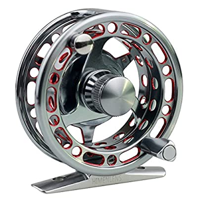 HIMENLENS Ice Fishing Reel Right/Left Double Color All Metal CNC Raft Wheel Ice Reel with 3+1 Ball Bearings