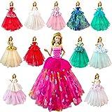 Miunana 7 Robes de Soirée Poupée Princesse Aléatoire Elégantes Mode Princesse pour Poupée Filles de 11,5 Pouce