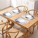 FloraGrantnan - Juego de 8 alfombrillas de mesa lavables antideslizantes resistentes al calor, para fiestas de cocina y exteriores, diseño de pipa de fumar con tradición