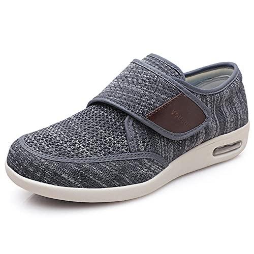 Zapatillas de Andar al Aire Libre, Summer Summer Sports Men's Shoes, Light and Portable Transpirable Gran Tamaño Casual Air Mat Shoes Padre Padre-Gris Profundo 1_45EU