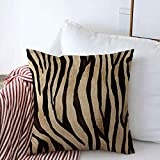 Throw Pillow Covers 20' x 20' Camouflage Blue Leopard Tiger Skin Pattern Brown Zebra Cheetah Winter Fur Paint Cushion Square Linen Pillowcase for Winter Home Decoration