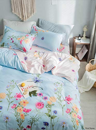 Adam Home New Multi Design Duvet Quilt Cover With Pillowcases Bedding Set - Floral Skyway Reverse - Double