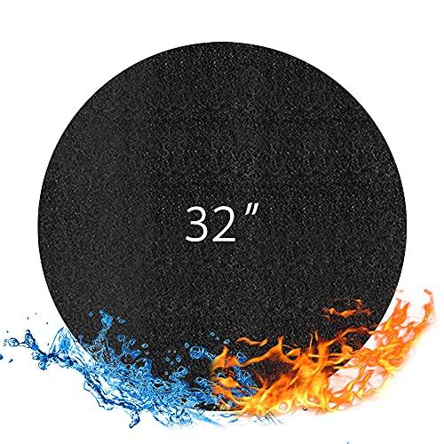 Recipiente para hoguera de 72 cm, resistente al fuego, para barbacoas de jardín, redonda, plegable, resistente al calor, resistente al agua, para suelo, terraza, terraza, césped, camping