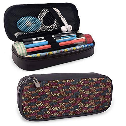 Abstrakte Student Briefpapier Spiralen Muster mit mehreren Farben auf einem dunklen Hintergrund Abstrakte gebogene Streifen Schreibtisch Aufbewahrungsbox mehrfarbig