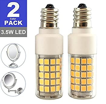SRRB Direct LED Replacement Light Bulb for Cosmetic Vanity Makeup Mirror with Single or Double Sided Lighted Magnification  Non-Dimmable LED  Bulb Only  3.5W