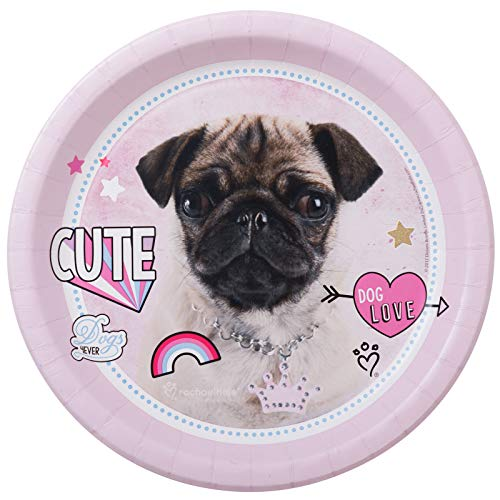 BirthdayExpress Rachael Hale Party Supplies Dog Love Dinner Plates (8)