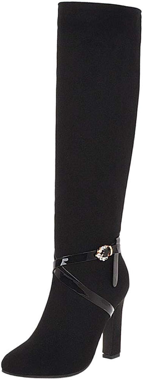 BeiaMina Womens Knee High Boots Zipper