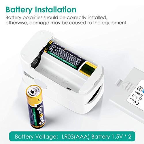 51+m+xl LmL. SL500  - MeaMae Care Oxímetro de pulso Oxímetro de dedo para medir la saturación de oxígeno en la sangre frecuencia del pulso y PI pulsioximetro de dedo profesional con pantalla LED