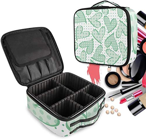 Cosmétique HZYDD Coeur Spot Make Up Bag Trousse de Toilette Zipper Sacs de Maquillage Organisateur Poche for Compartiment Femmes Filles Gratuit