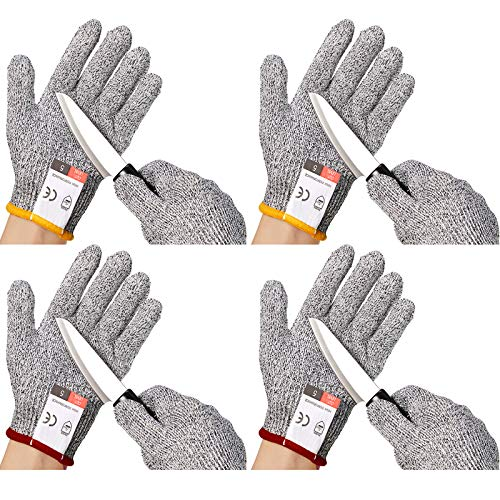 Kids Cut Resistant Gloves Safe Level 5 Protection Safety Kitchen Worker Gloves (XXS, 4-7 Years)