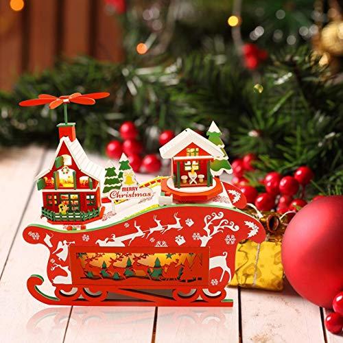 Casa De Muñecas En Miniatura con Muebles, Noche De Navidad, Kit De Casa De Bricolaje, Rompecabezas,...