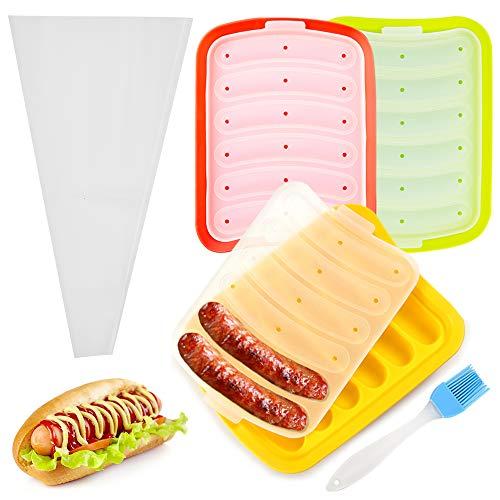 PUDSIRN Wurstform, antihaftbeschichtet, Lebensmittelqualität, Hot Dog-Form für Eiswürfel, Eier, Wurst und Baby's Ergänzungsmittel