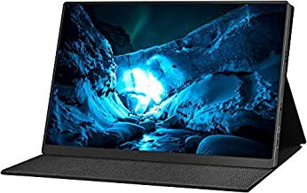 Portable Monitor 4K - 15.6 inch 3840 x 2160 UHD 72% NTSC HDR FreeSync USB-C Portable Display with Zero Frame HD Type-C Mini DP for Laptop PC Phone Mac Surface Xbox PS4 Switch (Black)