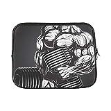 LIANGWE Design Benutzerdefinierte Wilde Bodybuilder Hantel Hülle Weiche Laptop Tasche Tasche Haut...