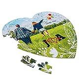 Puzzle de carton Personalizado forma de corazon, medida 20x22cm, regalo original, personaliza con foto, imagen, etc.