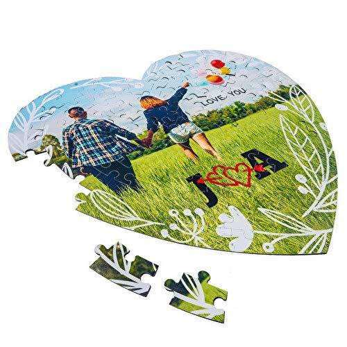 Puzzle de carton Personalizado forma de corazon, medida 20x22cm, regalo original, personaliza con foto, imagen, etc