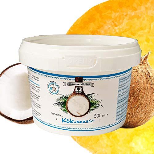 Coconut Oil | Kokosfett | Kokos öl | Kokosnussöl | Geschmacksneutral | Raffiniert und Desodoriert | Kokosöl für Haare und Haut | zum Kochen, Braten und Backen | Kokosöl für Hunde und Tiere | 500ml