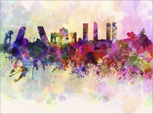 Posterlounge Lienzo 80 x 60 cm: Madrid Skyline