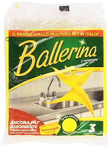 Ballerine Tissu Jaune Multi 3 Pièces