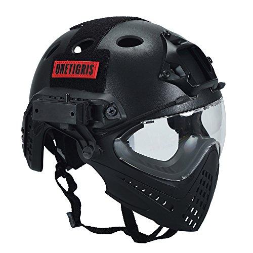 OneTigris Casque tactique avec masque et lunettes de protect