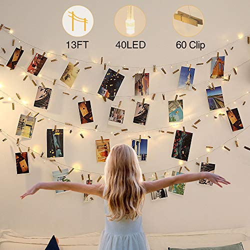 YMING String Light with Clips, Photo Clip String Lights,...