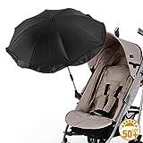DIAGO Sonnenschirm Kinderwagen, schwarz