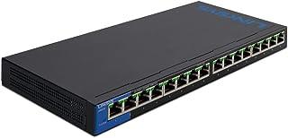 Linksys LGS116P 16-Port Business Desktop Gigabit PoE+ Switch, LGS116P-UK