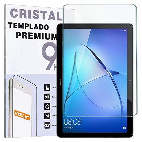 REY Protector de Pantalla para Huawei MEDIAPAD T5 10.1', Cristal Vidrio Templado Premium, Táblet