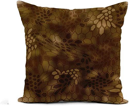 MODORSAN Throw Pillow Cover Beige Doodle Cookies Pattern Sketch on Light Chocolate Chip Home Sofa Decorativo 18'x 18' Funda de Almohada Funda-Funda de Almohada 23