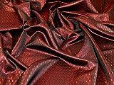 Gewebter Brokatstoff, metallisch, Rot, Meterware