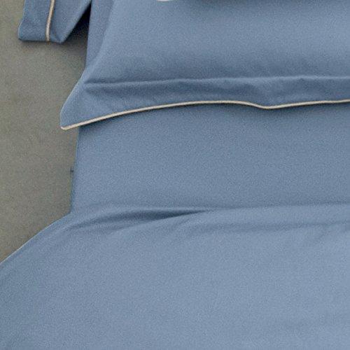 Blanc Des Vosges - Drap housse 100x200 cm - Bleu