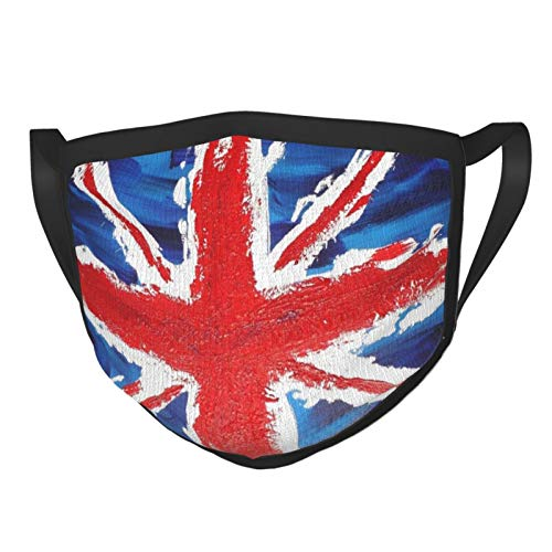 British Flag Men's and Women's Mouth Face Mask Anti Breathable Dust Absorb Sweat Washable Reusable Masks for Cycling Camping Ski Travel Outdoor