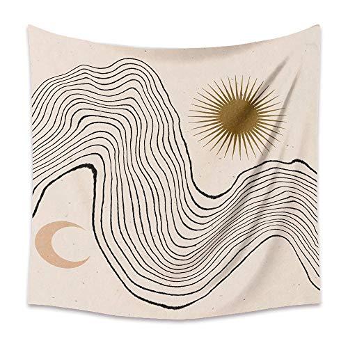 KHKJ Tapiz de Luna Retro Mandala Tarot Card Tapiz de Pared Boho Montaña Tapices para Colgar en la Pared Dormitorio Dormitorio Roomn Decoración de Pared A16 150x130cm