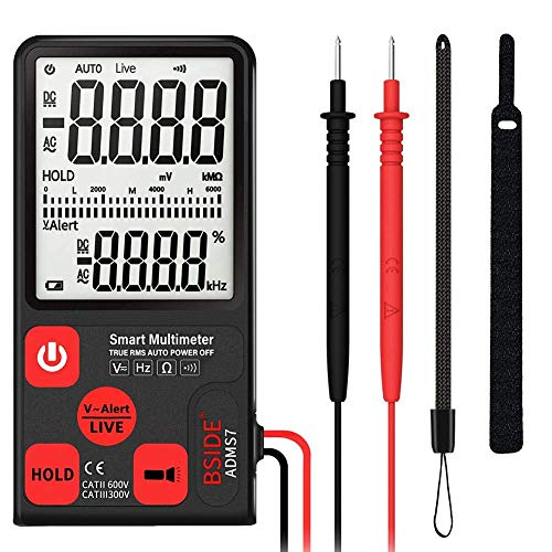 Chesbung Digital Multimeter, Large Screen Smart Digital Multimeter Voltage Tester 3-Line Display Fully Auto-Range True RMS 6000 Counts DMM with Analog Bargraph