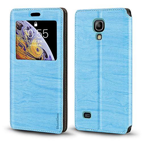Custodia per Samsung Galaxy S4 Mini, lussuosa in pelle a grana di legno con scomparto per carte di credito, finestra di notifica con chiusura magnetica per Samsung Galaxy S4 Mini Scarpe da fitness/cross-training da uomo