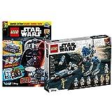 Lego 75280 Clone Troopers der 501 Legion 75280 + cuaderno Star Wars nº 76 (cómics, póster) con bolsa de plástico Clone Turbo Tank