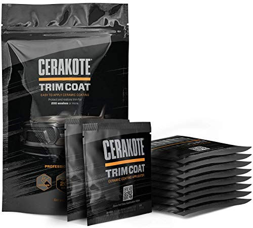 CERAKOTE Ceramic Trim Coat Kit - Quick Plastic Trim Restorer - Guaranteed Restoration to Last Over 200 Washes – A Ceramic Coating, Not a Dressing