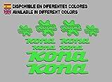 Ecoshirt 6W-OW84-N0KI Pegatinas Kona Bike F131 Stickers Aufkleber Decals Autocollants Adesivi, Verde