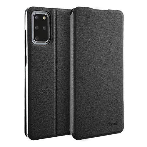 doupi Deluxe FlipCase per Samsung Galaxy S20+ (S20 Plus), Protezione Custodia Ultra Slim Magnete Flip Cover Protettiva Book Style Etui Stare in Piedi, Nero