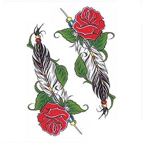 Creative/hommes sexy et femmes tatouage temporaire étanche Stickers Rose