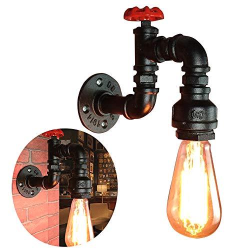 Singeru E27 Vintage Metall Wandleuchte Wandlampe Industrie Rohr Retro Loftleuchte Lampe Wasserhahn Ventil Leuchte mit Schrauben